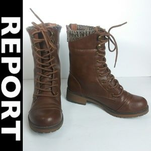 Report Sz 6 Faux Leather Tall Boots